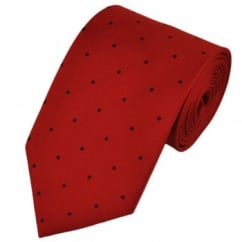 Red & Black Silk Polka Dot Tie