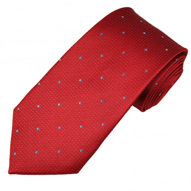 Red & Blue Polka Dot Men's Tie