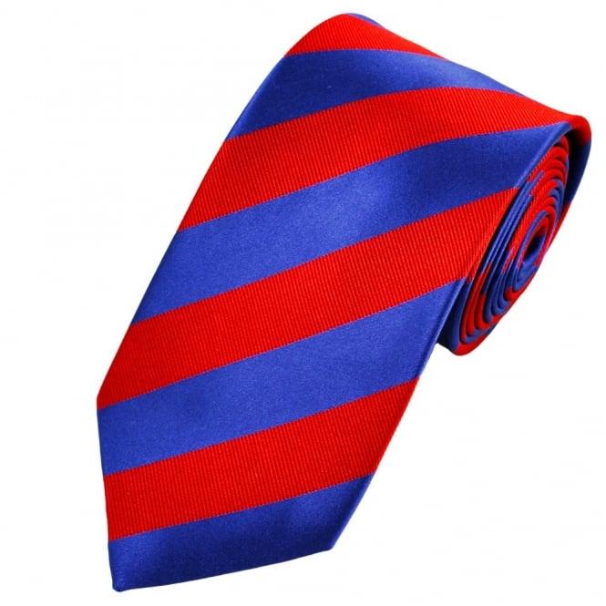 95aef3d8 Red & Blue Striped Silk Tie