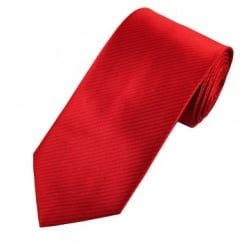 Red & Burgundy Striped Men's Tie