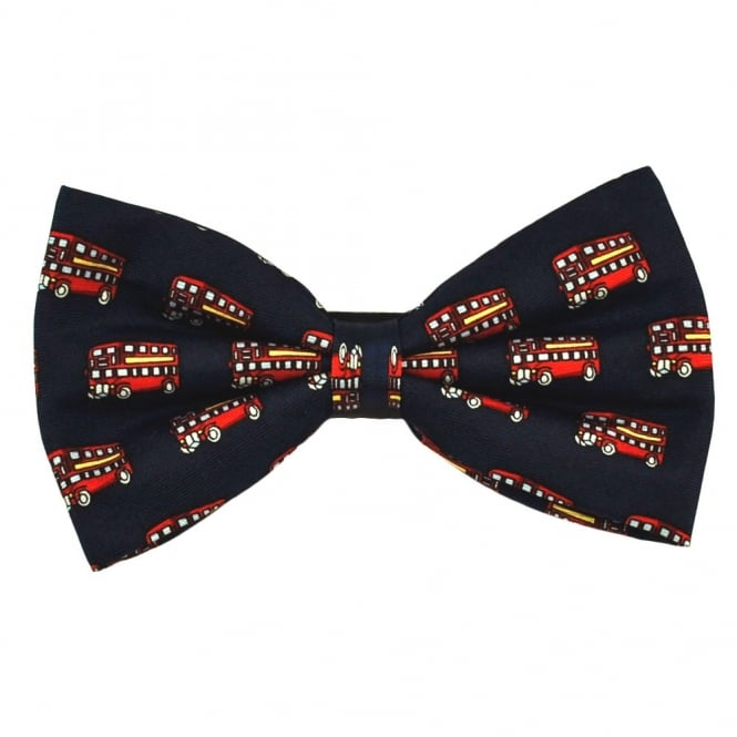 Red Bus Silk Novelty Bow Tie