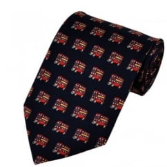 Red Bus Silk Novelty Tie