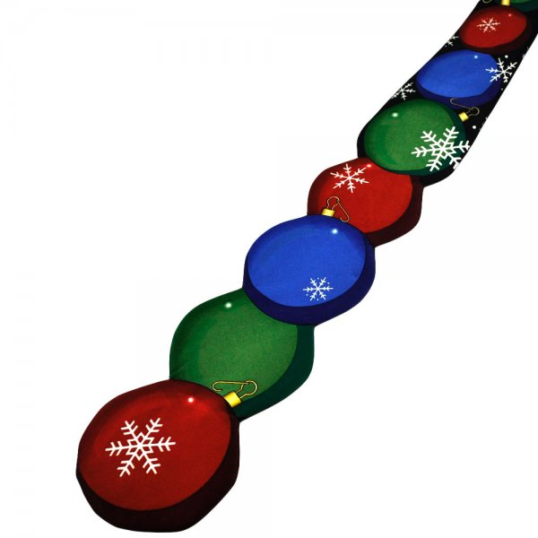 Red Green Blue Christmas Tree Baubles Shaped Novelty Tie