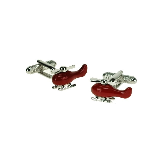 Red Helicopter Novelty Cufflinks