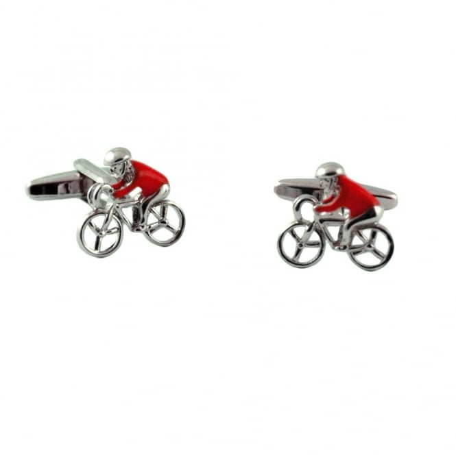 Red Jersey Cycling Novelty Cufflinks