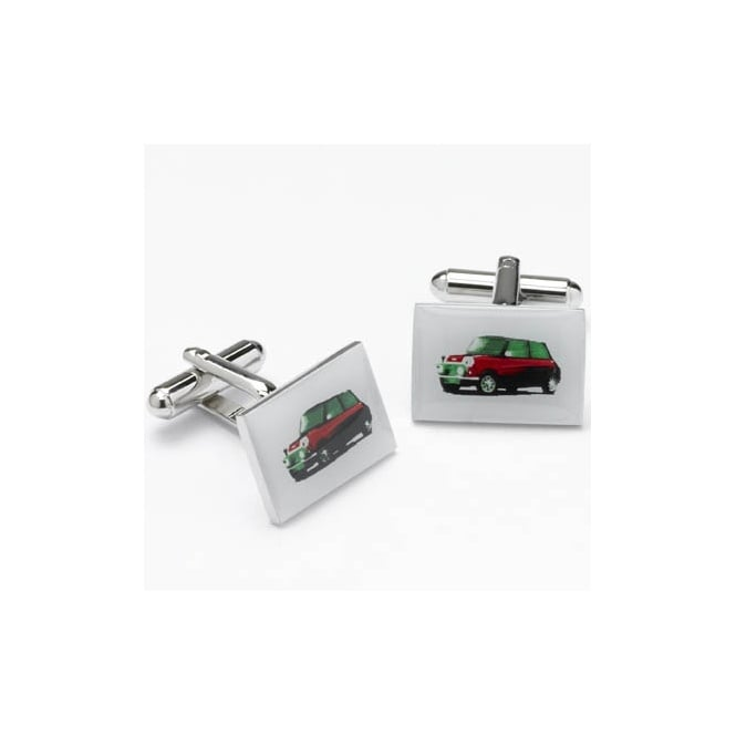 red mini novelty cufflinks