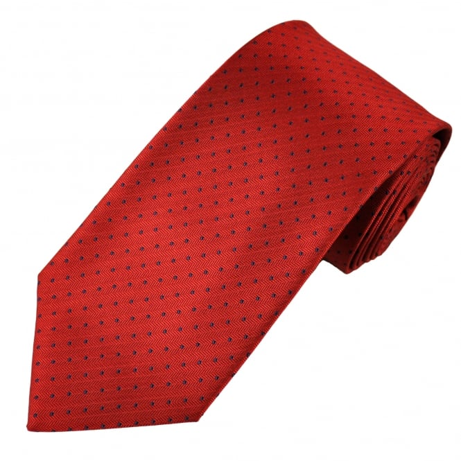 Red & Navy Blue Polka Dot Men's Tie