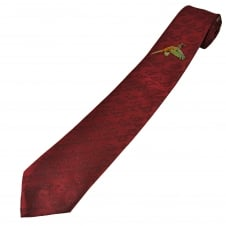 Red Pheasant Silk Country Tie By Van Buck