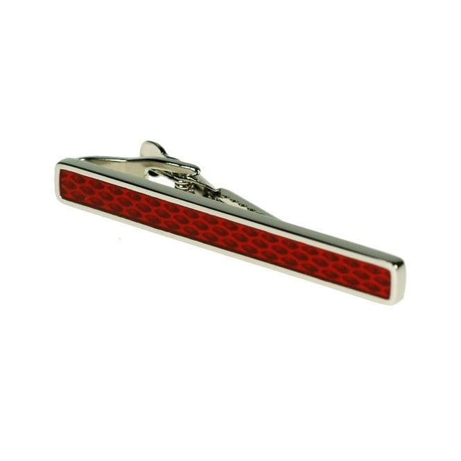Red Rhodium Tie Bar