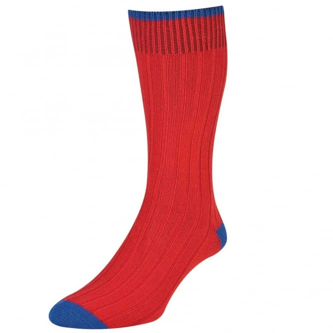 Red & Royal Blue Women's Socks by HJ Hall