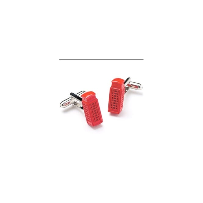 Red Telephone Box Novelty Cufflinks