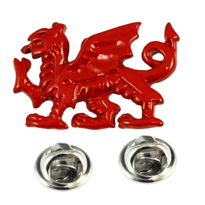 Red Welsh Dragon Wales Lapel Pin Badge