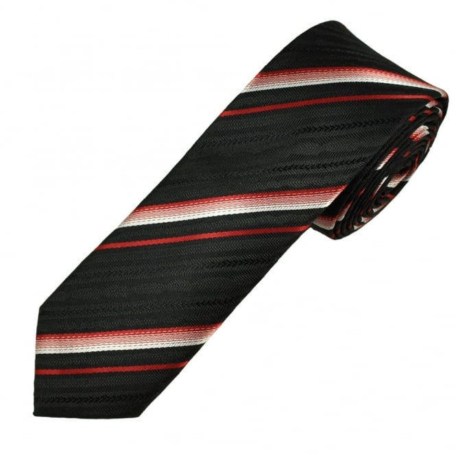 red, white and black striped men