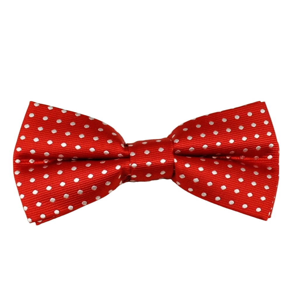 Red & White Polka Dot Boys Bow Tie from Ties Planet UK  |Bow Ties For Boys