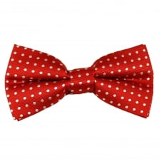 Red & White Polka Dot Men's Bow Tie