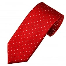 Red & White Polka Dot Men's Tie