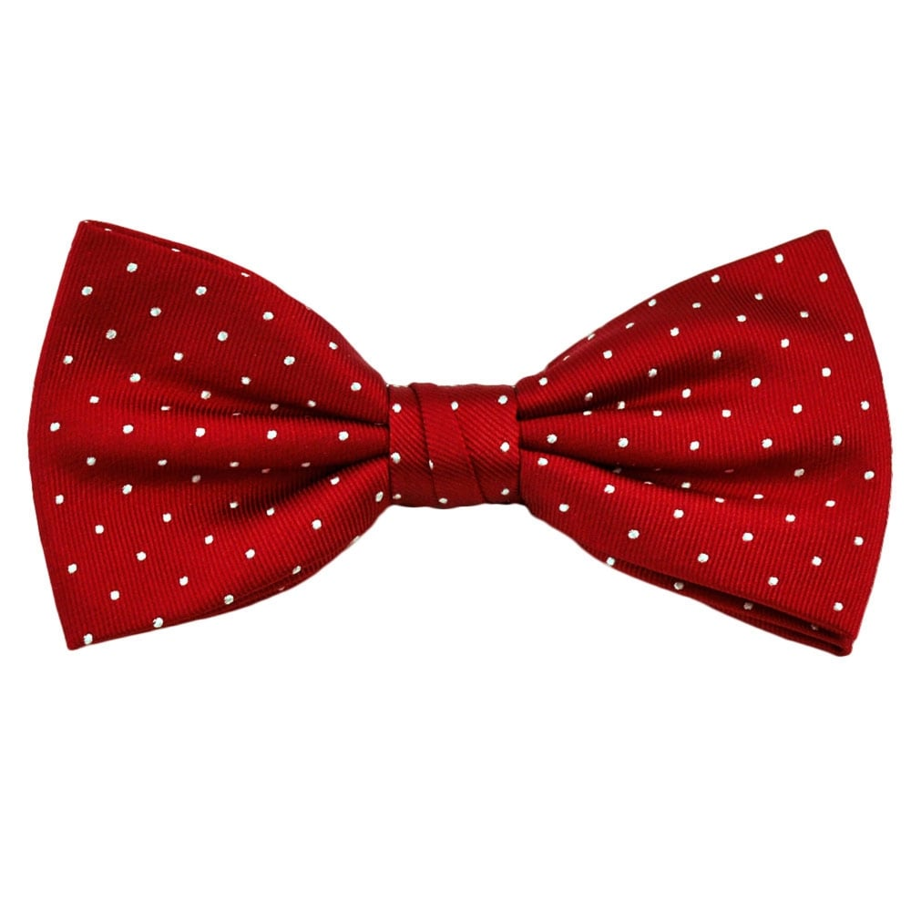 03644a7a0f0d Red & White Polka Dot Silk Bow Tie from Ties Planet UK