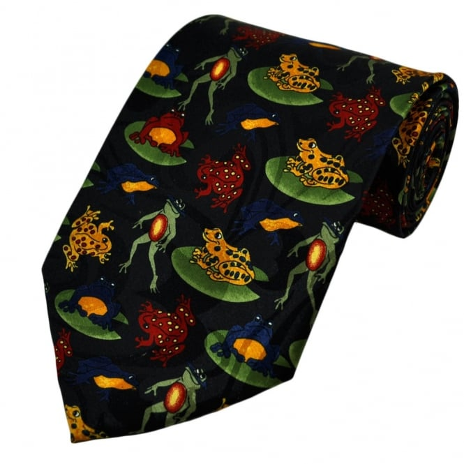 Red, Yellow, Blue Frogs & Toads Novelty Tie
