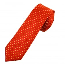 Red & Yellow Polka Dot Boys Skinny Tie