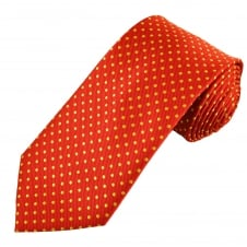 Red & Yellow Polka Dot Men's Tie