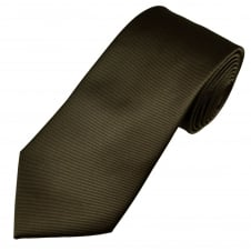 Rich Chocolate Brown Rib Patterned Men's Tie