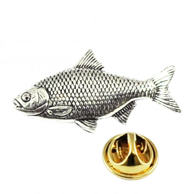 Roach Fish English Pewter Lapel Pin Badge