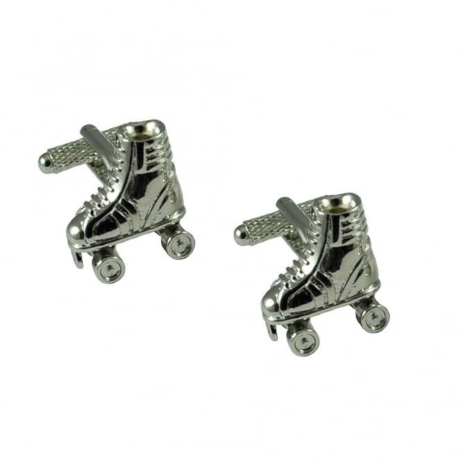 Roller Skates with Moving Wheel Novelty Cufflinks