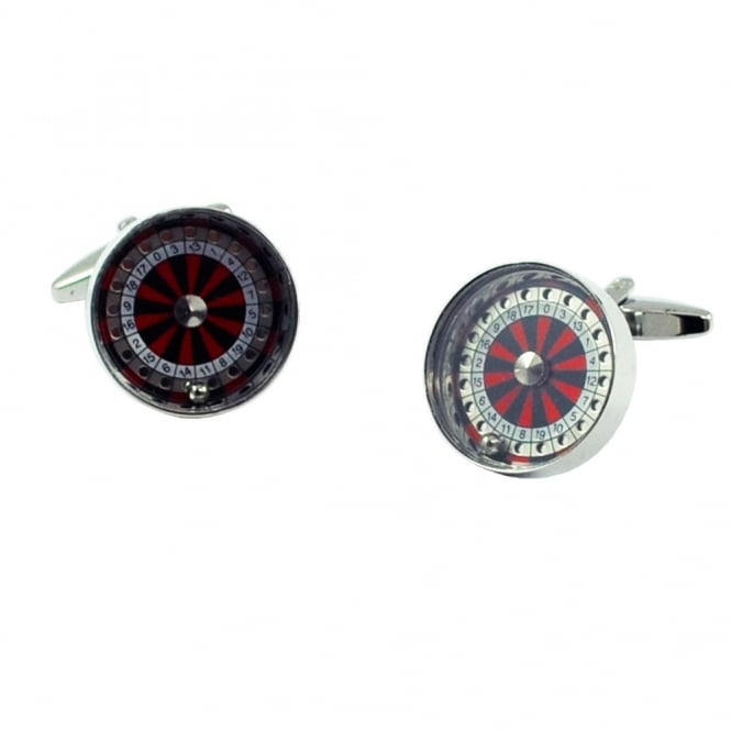 Roulette Wheel Novelty Cufflinks
