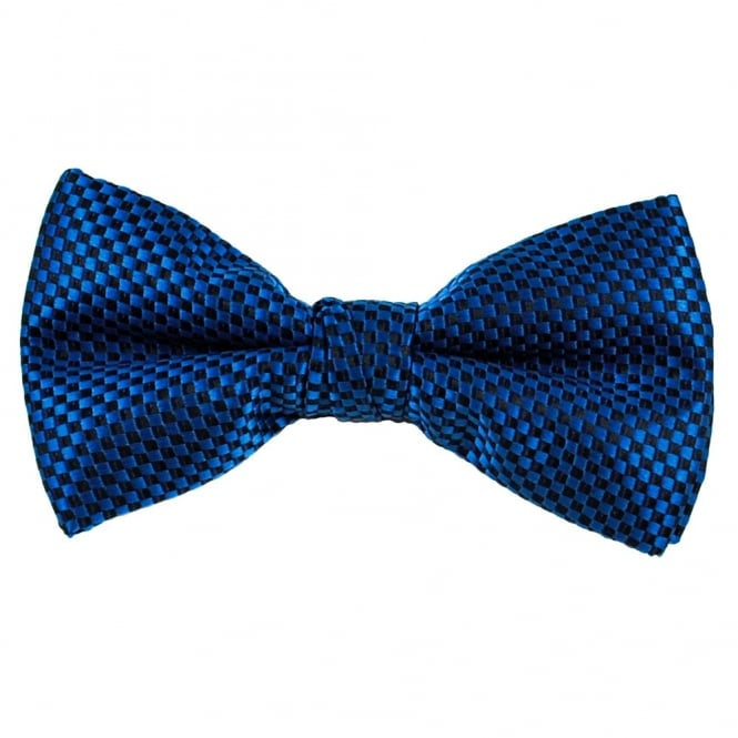 Royal Blue & Black Micro Checked Bow Tie