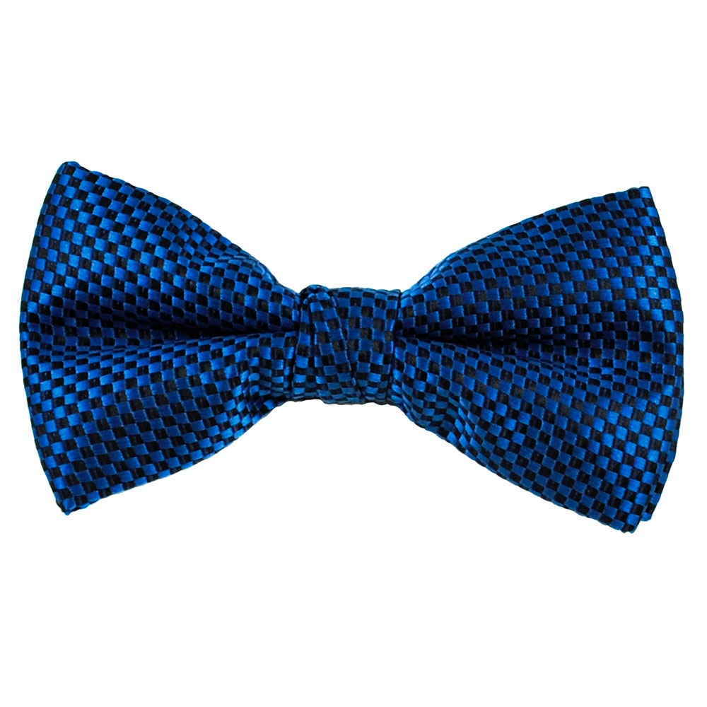 royal blue black micro checked bow tie from ties planet uk