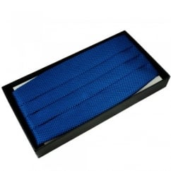 Royal Blue & Black Micro Checked Cummerbund