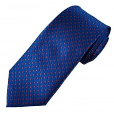 Royal Blue & Red Polka Dot Men's Tie