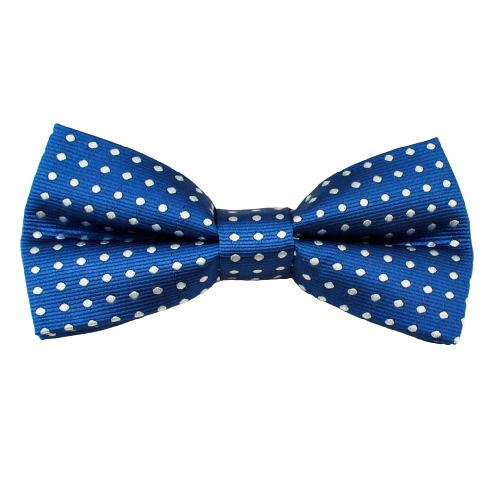 royal blue white polka dot boys bow tie from ties planet uk