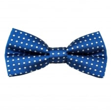Royal Blue & White Polka Dot Boys Bow Tie