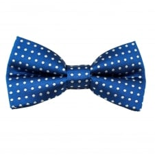 Royal Blue & White Polka Dot Men's Bow Tie