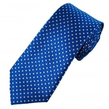 Royal Blue & White Polka Dot Men's Tie