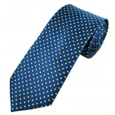 Royal Blue & Yellow Polka Dot Men's Tie