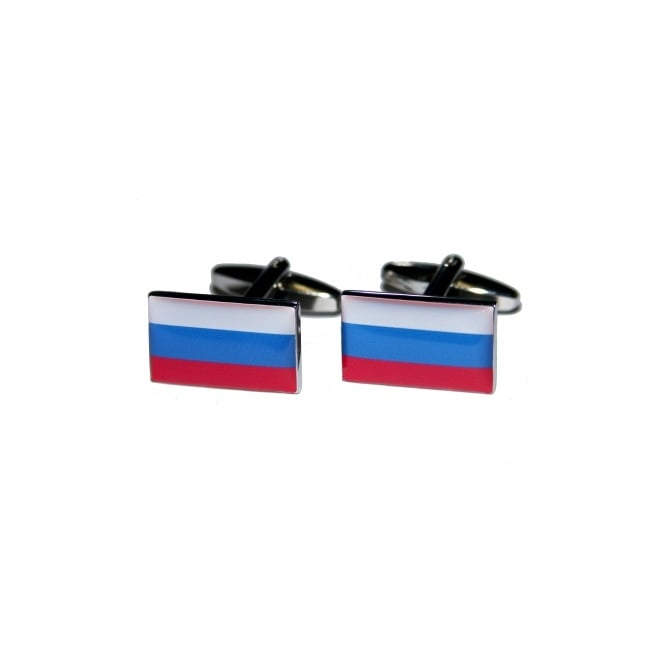 russia flag novelty cufflinks