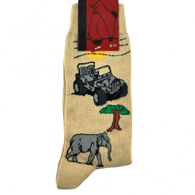 Safari Animals Men's Novelty Socks