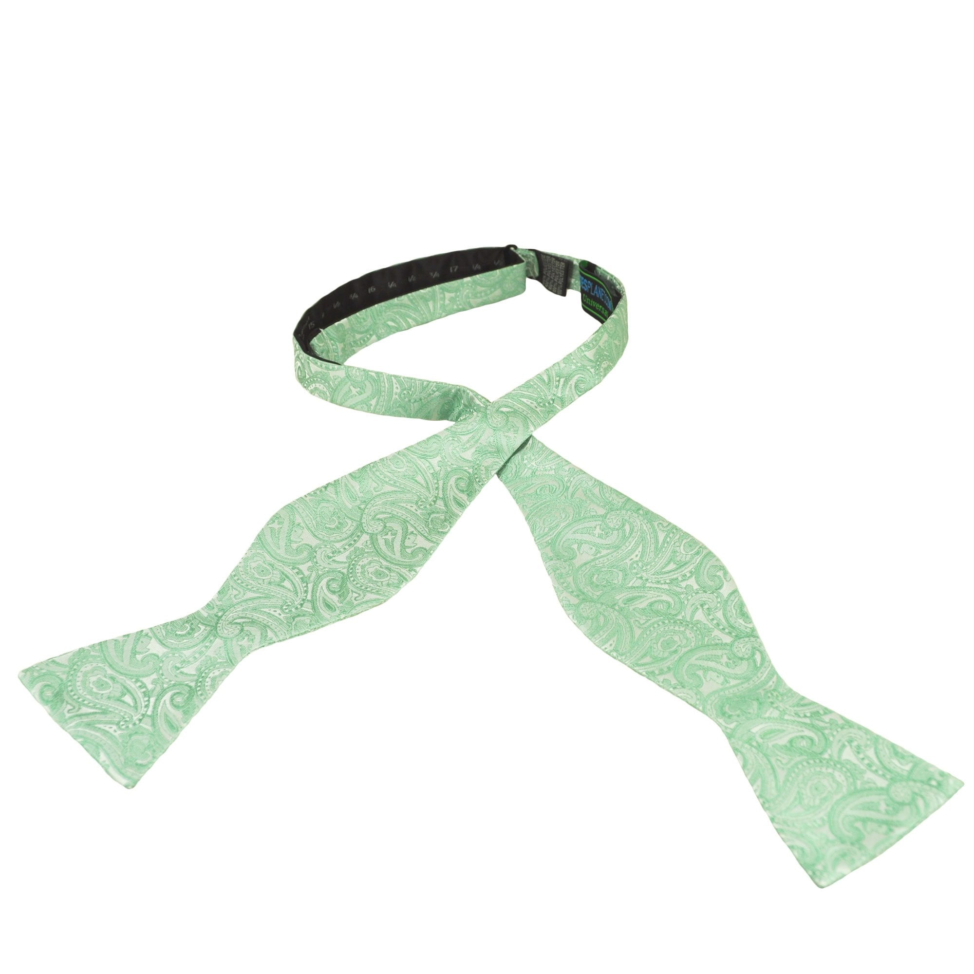 Sage Green Paisley Pattern Boys Bow Tie