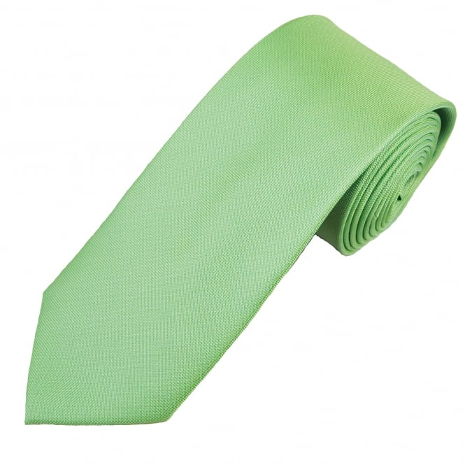 Sage Green Waffle Patterned Men's Tie