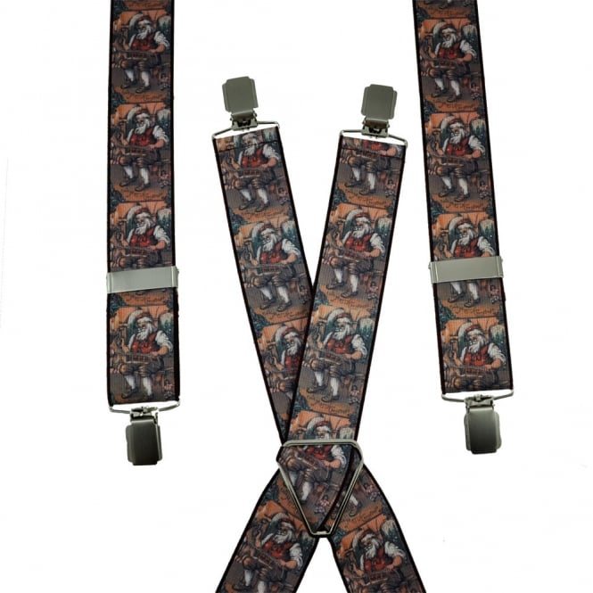 Santa Claus Christmas Workshop Trouser Braces
