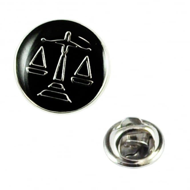 Scales Of Justice Lapel Pin Badge