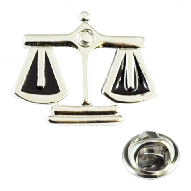 Scales Of Justice Lawyer Lapel Pin Badge