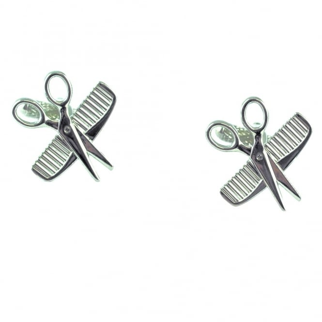 Scissors & Comb Barber Hairdresser Novelty Cufflinks