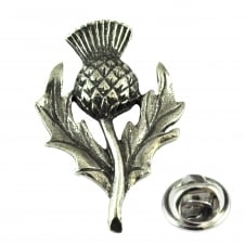 Scottish Thistle Pewter Lapel Pin Badge