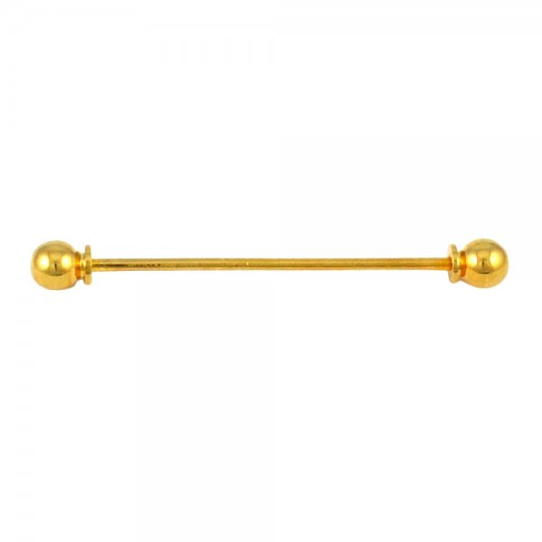 Bar Tie Pin : Screw in collar bar pin gold colour from ties planet uk