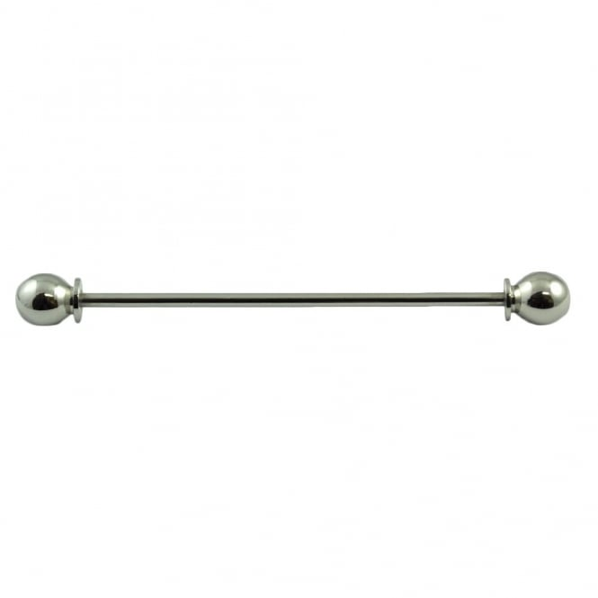 Screw In Collar Bar Pin - Silver Colour
