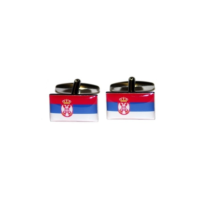 Serbia Flag Novelty Cufflinks