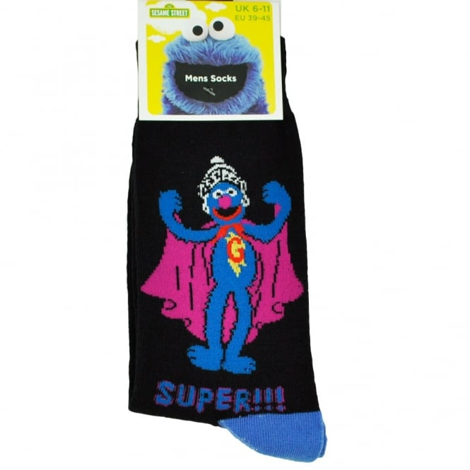 "Sesame Street Men's Novelty Socks - Gonzo ""Super!!!"""